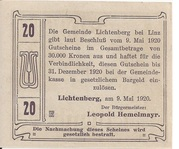 20 Heller (Lichtenberg) -  revers