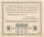 50 Heller (Lichtenberg) – revers