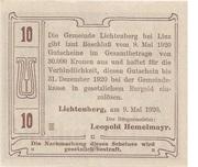 10 Heller (Lichtenberg) – revers