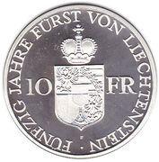 10 francs François Joseph II (Jubilé d'or) -  revers