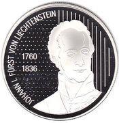 10 francs Hans-Adam II (200 ans de souveraineté) – avers