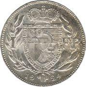 1 franc Jean II – revers