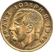 10 francs François Joseph II – avers