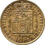 10 francs François Joseph II – revers