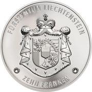 10 Franken - Anton Florian (300 ans Liechtenstein) -  revers