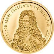 10 Franken - Anton Florian (300 ans Liechtenstein) -  avers