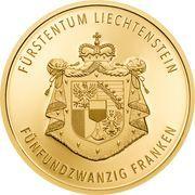 25 Franken - Anton Florian (300 ans Liechtenstein) – revers