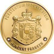 100 Franken - Anton Florian (300 ans Liechtenstein) – revers