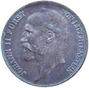 ½ franc Jean II – avers