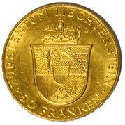 50 Franken - Franz Josef II – revers