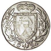 2 francs Jean II – revers