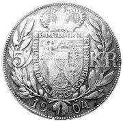 5 couronnes Jean II – revers