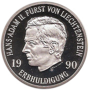 10 Franken Hans Adam II – avers