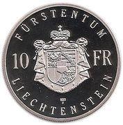 10 Franken Hans Adam II – revers