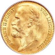 10 couronnes Jean II – avers