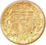 10 couronnes Jean II – revers