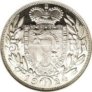 5 francs Jean II – revers