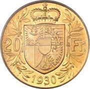 20 francs François Ier – revers