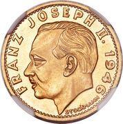 20 francs François Joseph II – avers