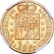 20 francs François Joseph II – revers