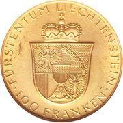 100 Franken - Franz Josef II – revers
