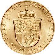 25 Franken - Franz Josef II – revers