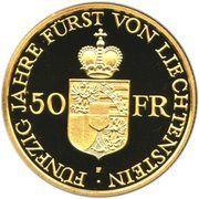 50 francs François Joseph II (Jubilé d'or) – revers
