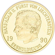 50 Franken - Hans Adam II – avers