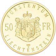 50 Franken - Hans Adam II – revers