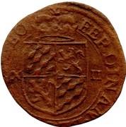 ½ Liard (12 sols) - Ferdinand de Bavière – avers