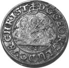 1 kreuzer- Georg III, Ludwig IV and Christian – avers