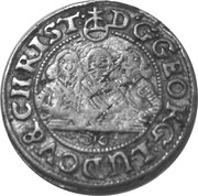 1 kreuzer- Georg III, Ludwig IV and Christian – avers