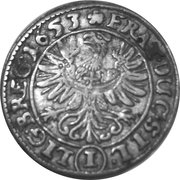 1 kreuzer- Georg III, Ludwig IV and Christian – revers