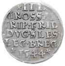 3 Groshen - Friedrich II – revers