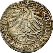 1 groschen Friedrich II – revers