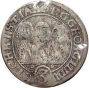 3 kreuzer Georg III, Ludwig IV et Christian – avers