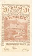 20 Heller (Lilienfeld) -  avers