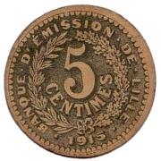 5 centimes - Banque d'Emission - Lille [59] – avers