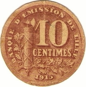 10 centimes - Banque d'Emission - Lille [59] – revers