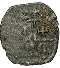 Denier - Jean III de Bretagne et Jeanne de Savoie – avers