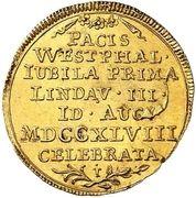 ½ ducat (Traités de Westphalie) – revers