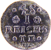 1/48 reichsthaler Friedrich Adolf – revers