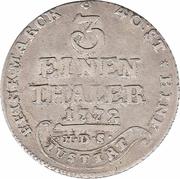 ⅓ thaler - Simon August – revers
