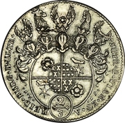 ⅔ Thaler / 1 Gulden - Simon Heinrich Adolf – revers