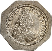 ½ thaler Friedrich Adolf (Klippe) – avers