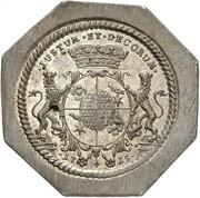 ½ thaler Friedrich Adolf (Klippe) – revers