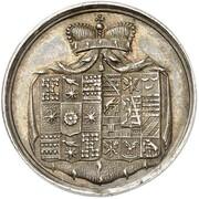 1½ ducat Friedrich Wilhelm Leopold (Naissance; Frappe essai en argent) – avers