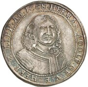 1 thaler Hermann Adolf – avers