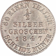 ½ silber groschen - Paul Alexander Leopold II – revers