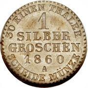 1 silber groschen - Paul Friedrich Emil Leopold III – revers